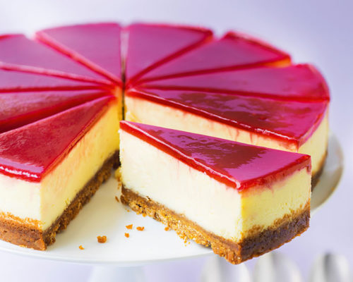 Cheesecake-glaçage-framboise-patisseries-americaines